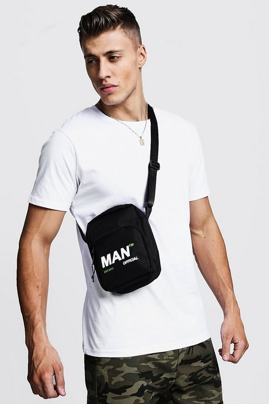 MAN Branded Nylon Cross Body Bag
