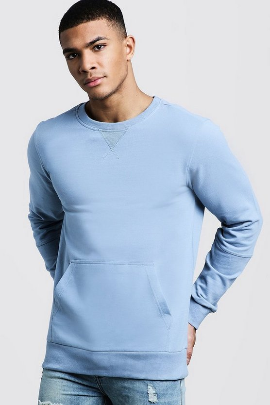 Blue Kangaroo Pocket Panel Sweater