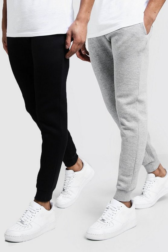 Mens Multi 2 Pack Skinny Fit Joggers