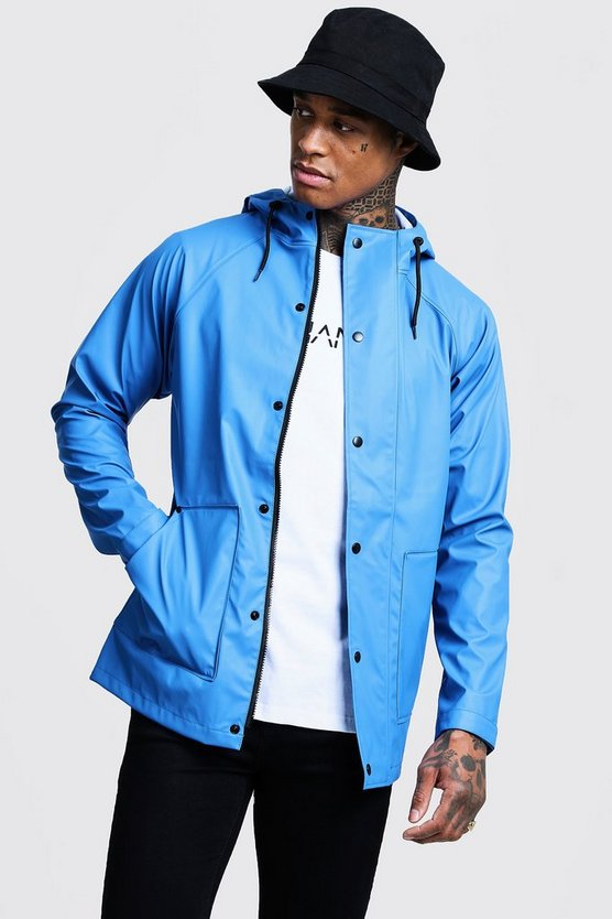 Cobalt Rubberised Rain Mac