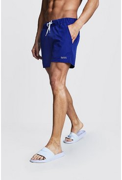 Mens Cobalt Original MAN Mid Length Swim Short
