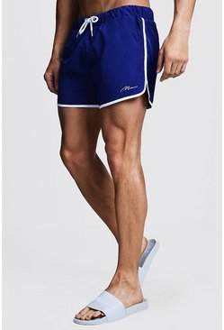Mens Cobalt MAN Signature Runner Swim Short