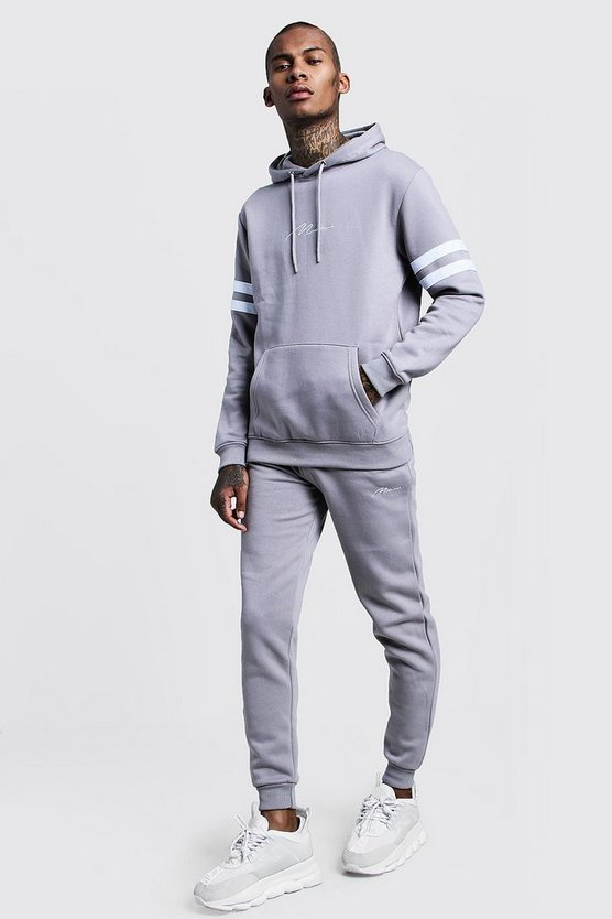 MAN Signature Contrast Panel Tracksuit