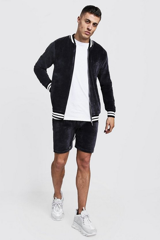 Velour MAN Short Bomber Tracksuit
