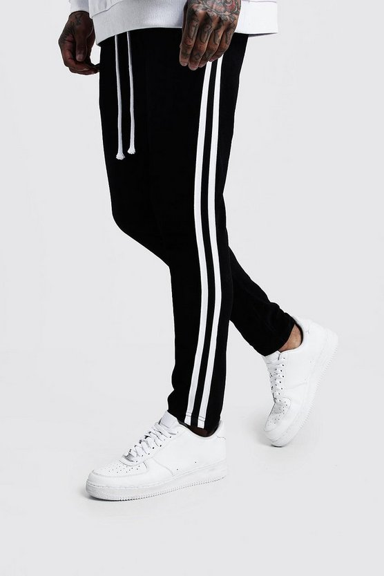 Velour Skinny Fit Jogger With Side Tape