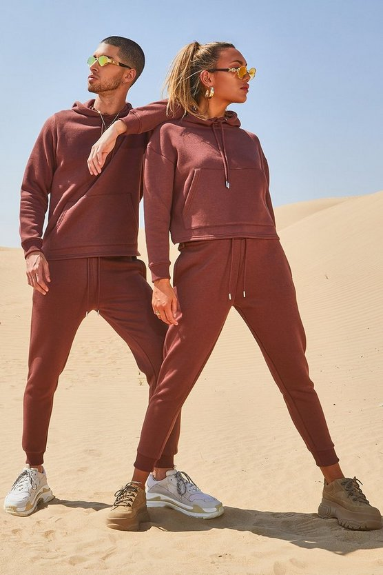 His Hooded Tracksuit With Sleeve Embroidery