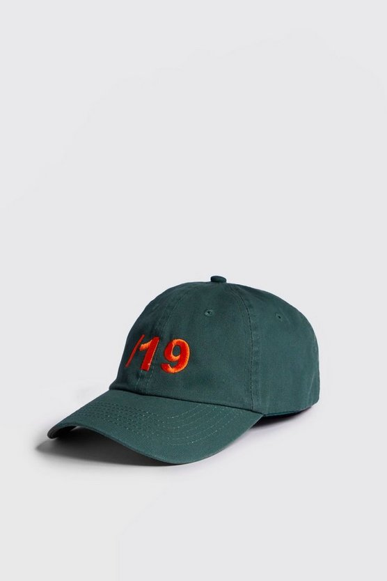 Orange 19 Embroidery Cap
