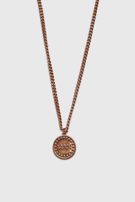 MAN Deboss Coin Necklace