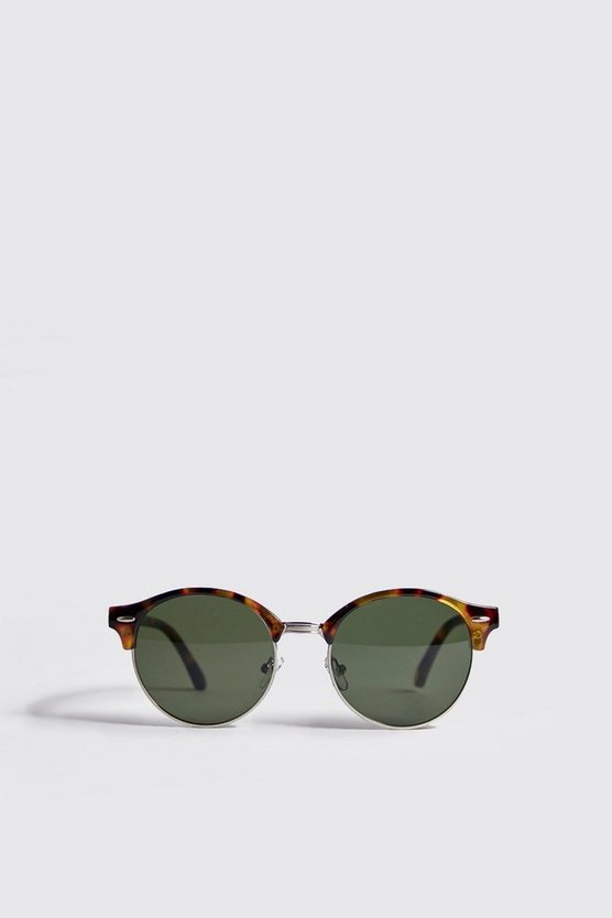 Brown Round Lens Retro Sunglasses
