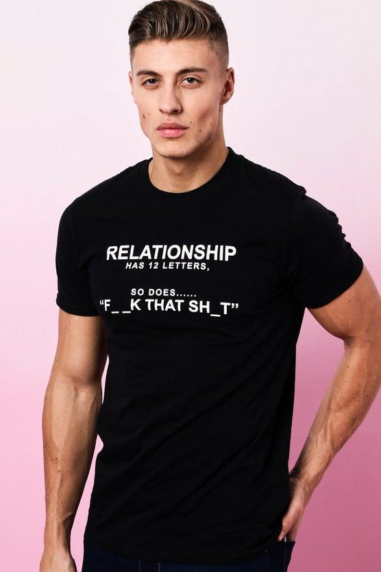 Black Valentines Relationship Printed T-Shirt