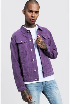 Mens Dusky pink Cord Denim Jacket