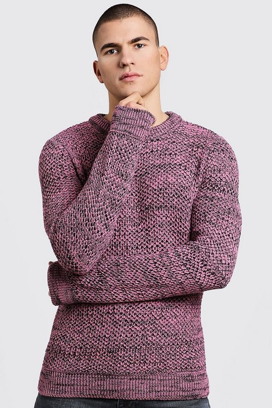 Twisted Yarn Knitted Sweater