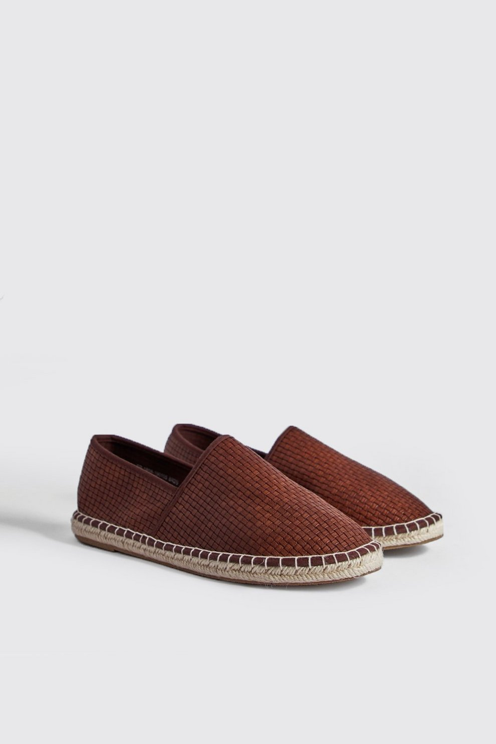 b544f673ece3 Mens Tan Hand Stitch Faux Leather Espadrille. Hover to zoom