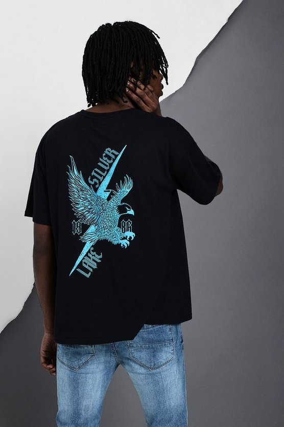 Oversized Eagle Silver Lake T-Shirt