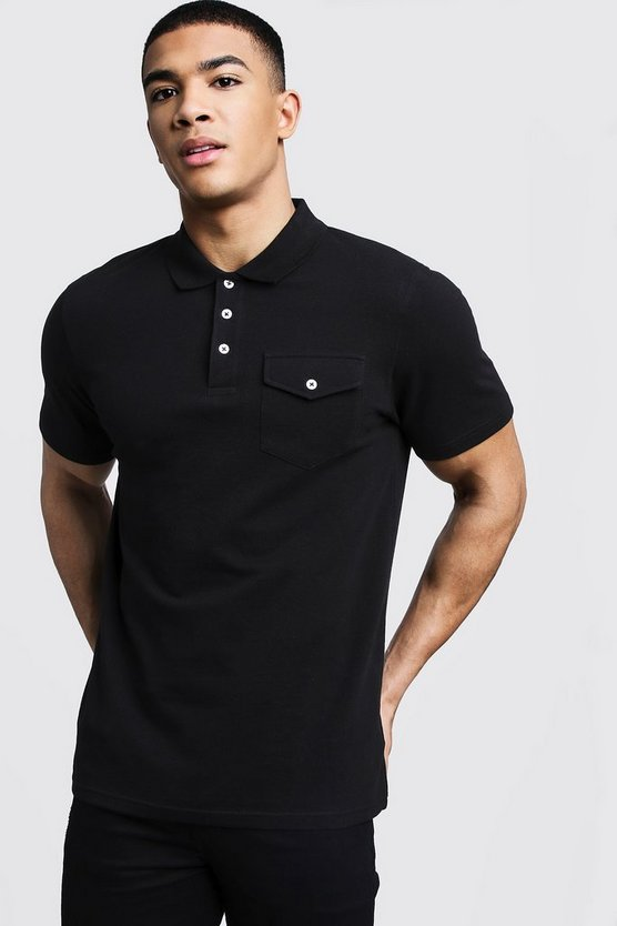 Pique Polo With Utility Pockets