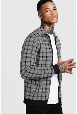 Mens Black Jacquard Smart Coach Jacket