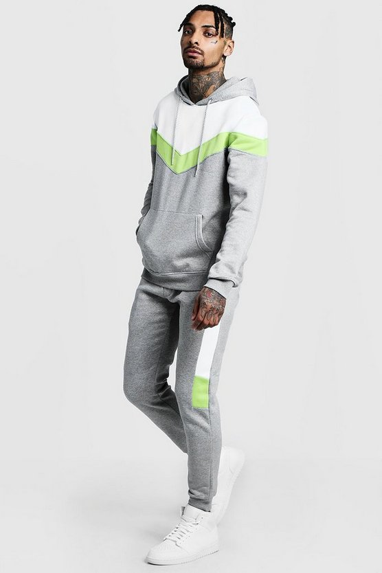 Chevron Panel Sweater Tracksuit