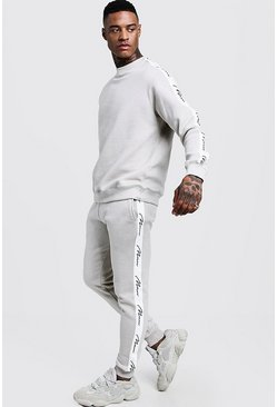 Mens Pumice stone MAN Signature Tape Sweater Tracksuit