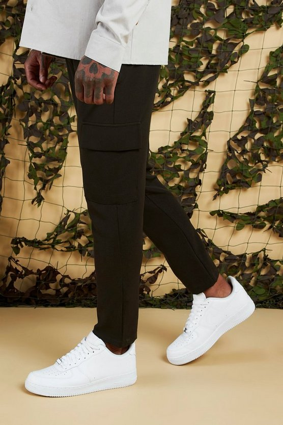 Plain Utility Pocket Smart Jogger Trouser