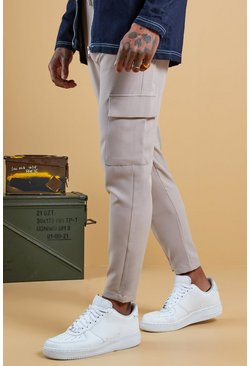 Mens Stone Plain Utility Pocket Smart Jogger Pants