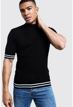 1de22cd32 Mens Jumpers & Cardigans | Knitted T-Shirt & Polos - boohooMAN UK