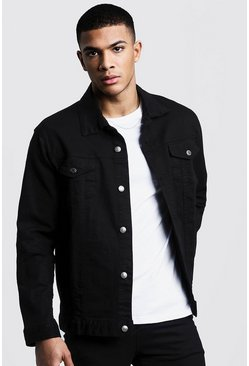 Washed black Regular Fit Denim Jacket