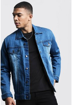 Mens Light blue Regular Fit Denim Jacket