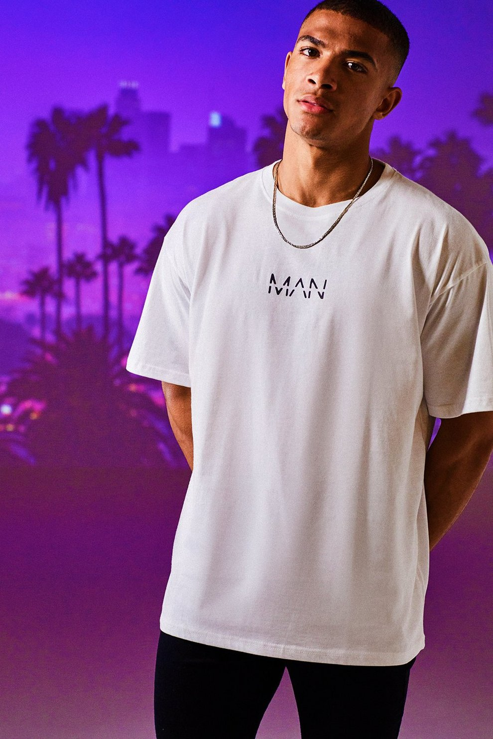 cca9fb8e8 Oversized Original MAN Print T-Shirt - boohooMAN