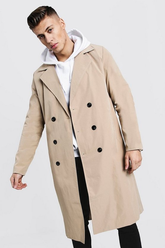 Camel Longline Lightweight Trench Coat
