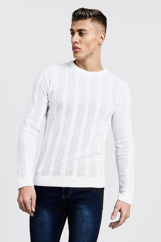 Lightweight Ladder Knit Jumper