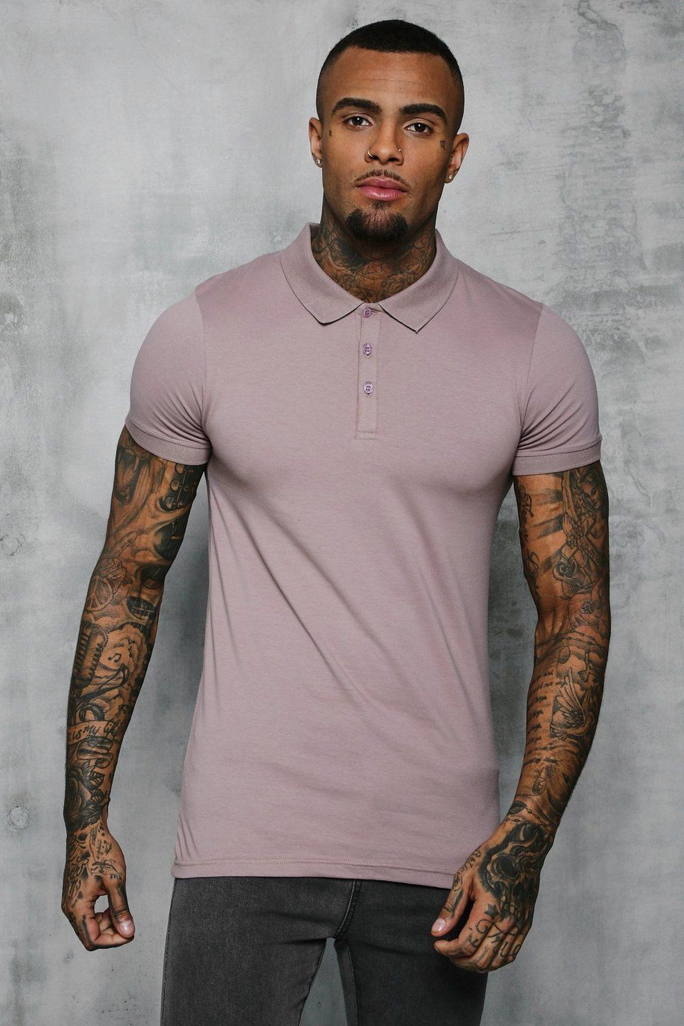 b85e53208 Mens Bark Short Sleeve Muscle Fit Polo. Hover to zoom. Close video