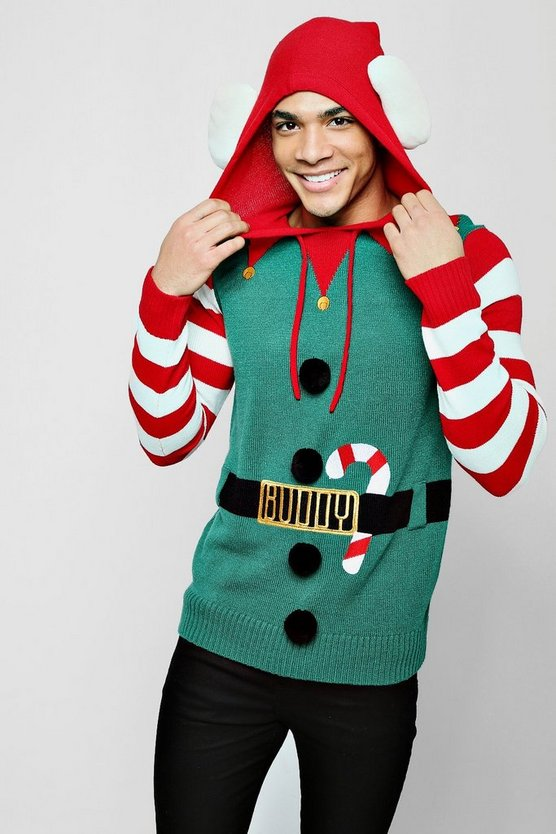 Green Character Christmas Jumper
