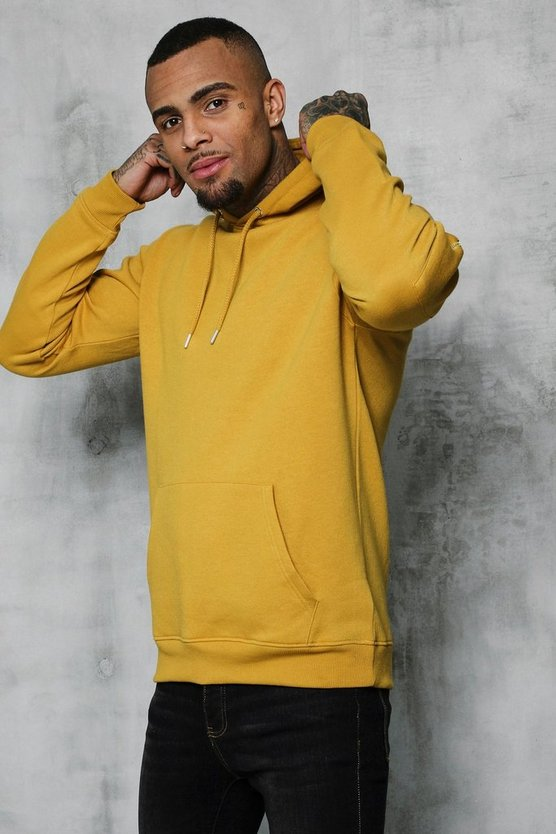 Mens Honey Ma1 Pocket Detail Fleece Hoodie