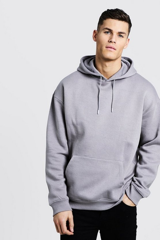 Ash Fleece Oversized Over The Head Hoodie