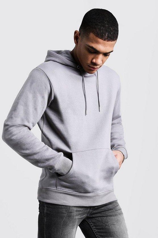 Ash Basic Over The Head Fleece Hoodie