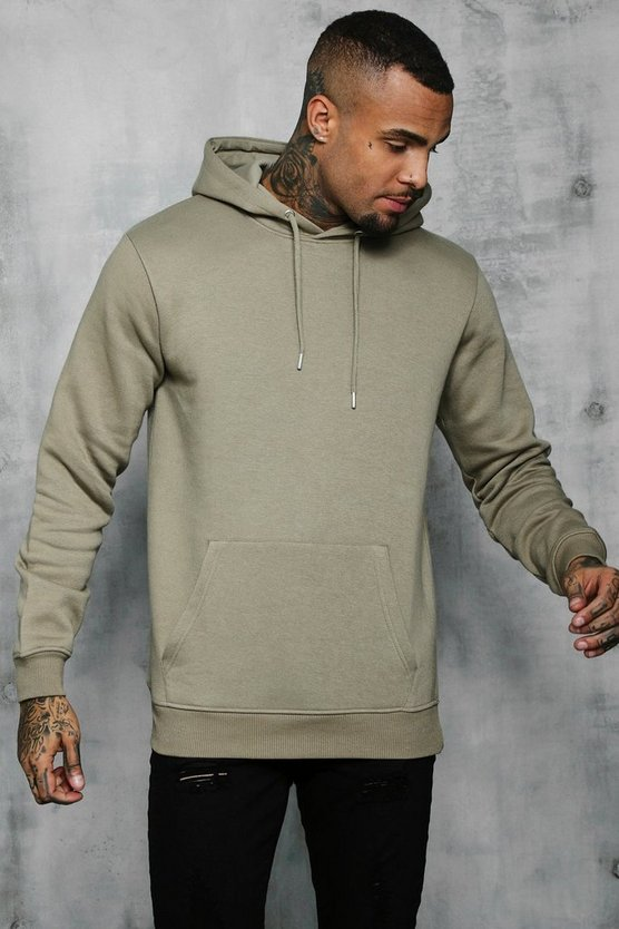 Sage silver Basic Over The Head Fleece Hoodie