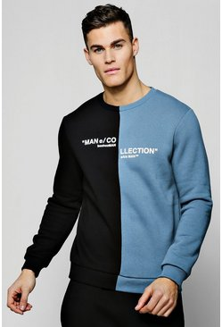 "Pullover mit geteilter ""MAN Collection""-Box, Helles schiefergrau, Herren"