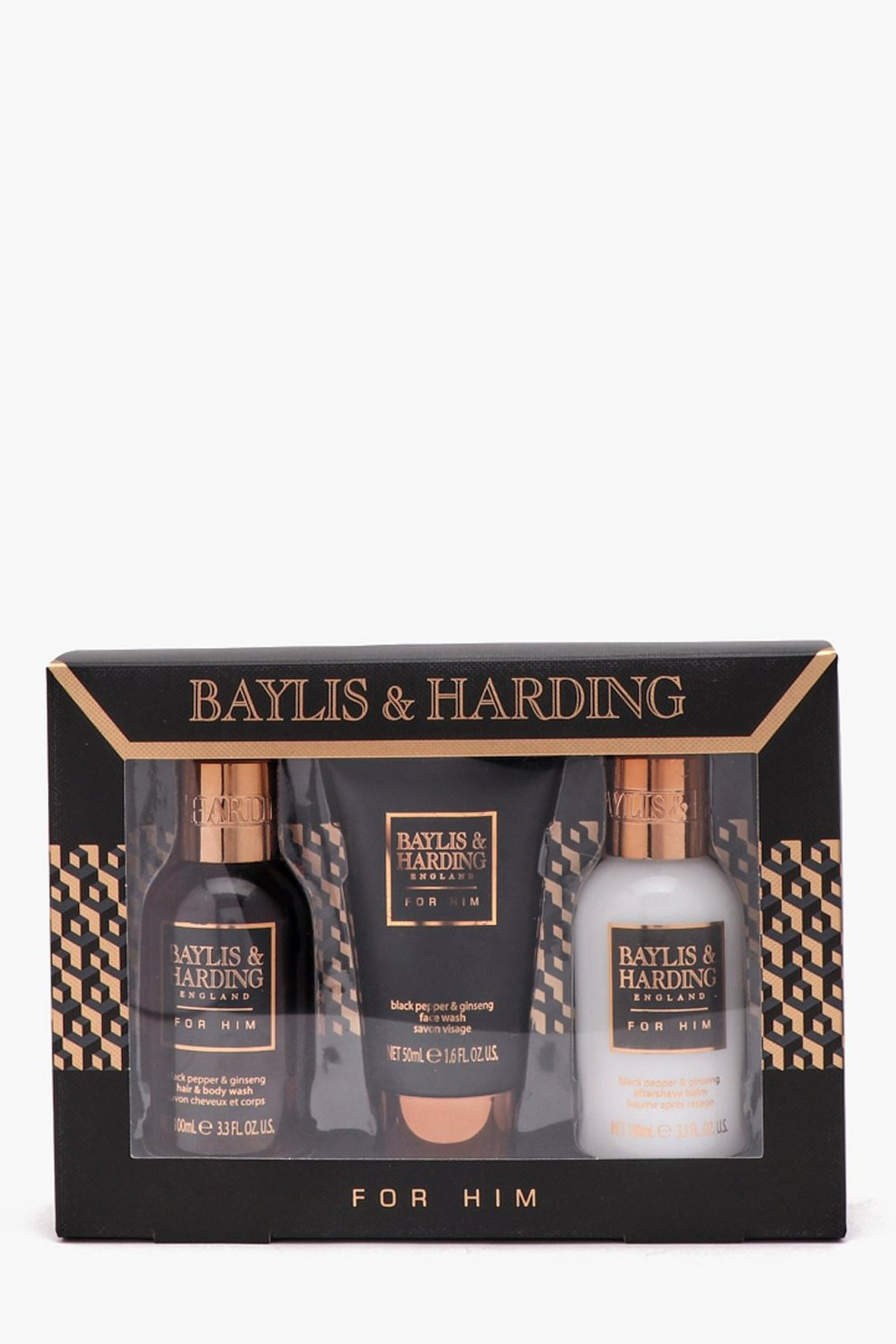 acda032634 Baylis   Harding Mens Black Pepper Gift Set - boohooMAN