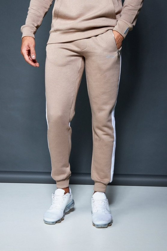 Skinny Fit Fleece Jogger With Side Panel