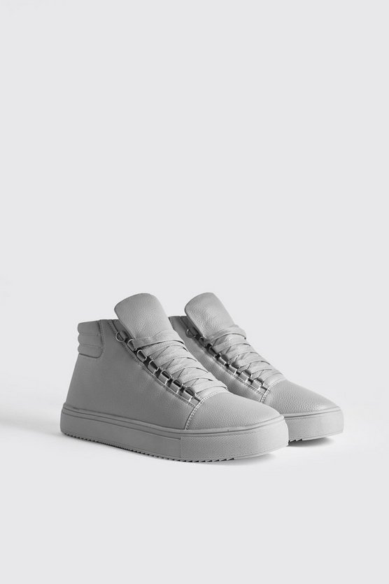 Eyelet Detail High Top In Faux Leather