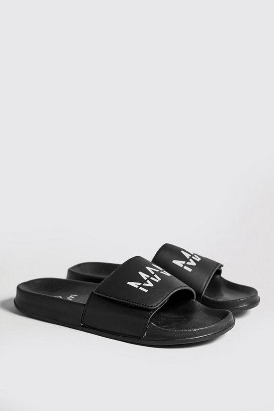 Black Velcro MAN Branded Slider