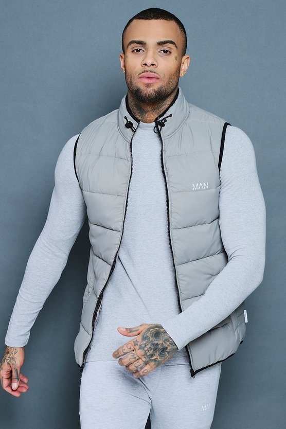 Grey Active Padded Shell Gilet