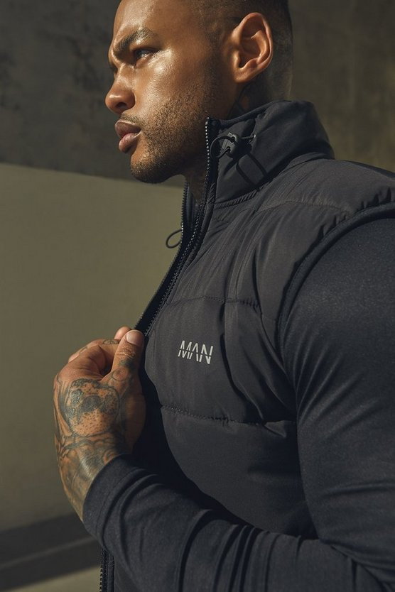 Black Active Padded Shell Gilet