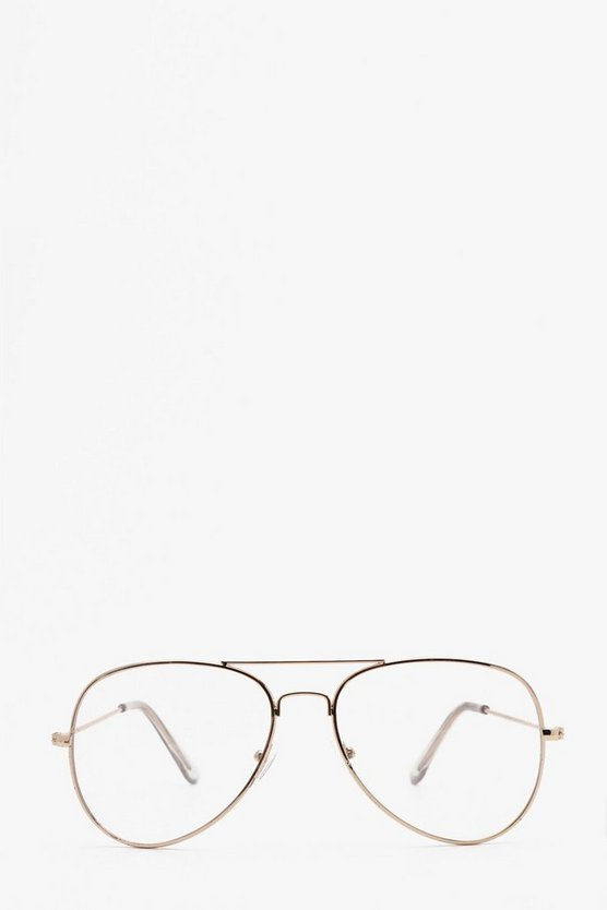 Gold Clear Lens Aviator