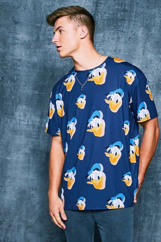 Navy Disney Donald Printed Oversized T-Shirt