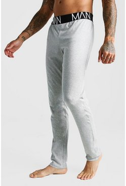 Mens Grey marl MAN Lounge Pants