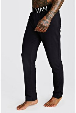 Mens Black MAN French Terry Lounge Pants