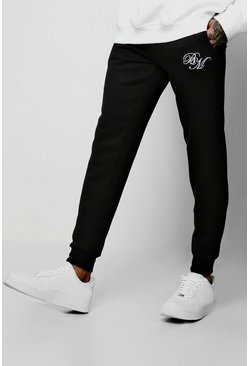 Joggings coupe slim BM, Noir, Homme