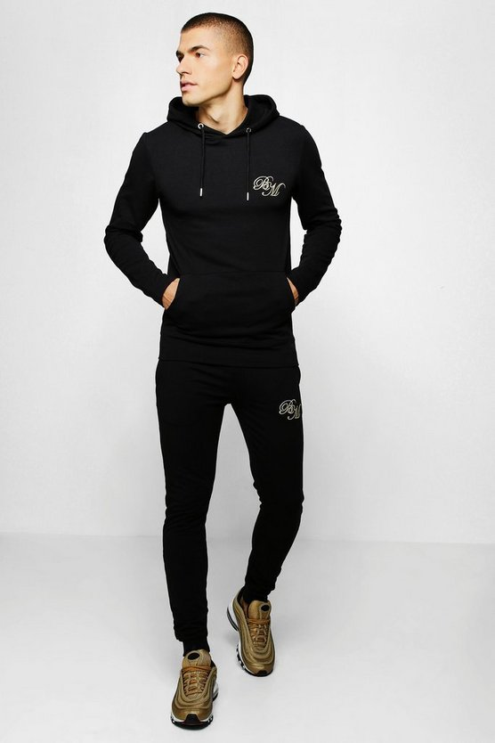 Muscle Fit Jersey BM Hooded Tracksuit