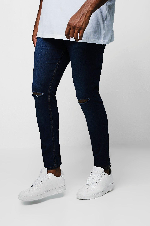 ccbd0728f9 Big And Tall Ripped Knee Skinny Fit Jeans - boohooMAN
